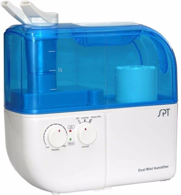 Dual-Mist Warm and Cool Ultrasonic Humidifier with ION Exchange Filter #Humidifier