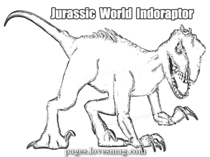 Breathtaking Indoraptor Dinosaur Jurassic World Coloring Web Page