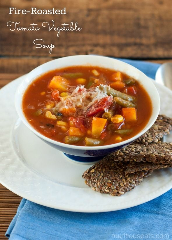 Fire-Roasted Tomato Vegetable Soup recipe