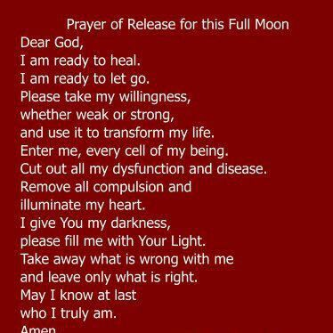 Prayer of Release for a Full Moon