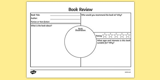 Book Review Worksheet - book review, book review sheet, writing a book review, book review template, book review writing frame, ks2 literacy, reading
