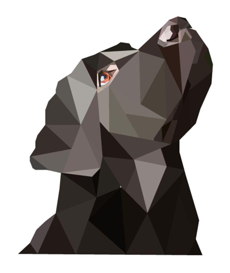 Black Labrador Geo Art (Print Version) by emynemzz.deviantart.com on @DeviantArt