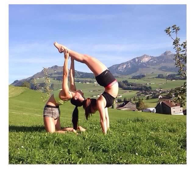 Handstand and Backbend Partner Combo