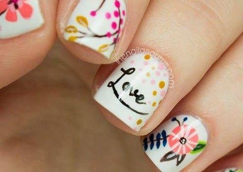 decorado de uñas con flores nail art