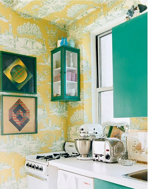 Cheerful Summer Interiors: 50 Green and Yellow Kitchen Designs | DigsDigs