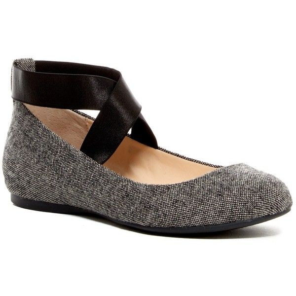 Jessica Simpson Mandayss Ankle Strap Ballet Flat ($40) ❤ liked on Polyvore featuring shoes, flats, oxford, oxford shoes, slip on flats, ankle tie ballet flats, round toe ballet flats and ballet shoes