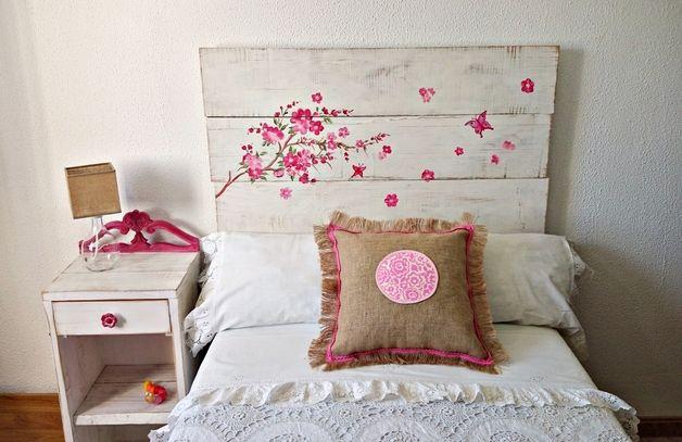 Camas infantiles cabecero kyoto hecho a mano por - Cabecero cama infantil ...