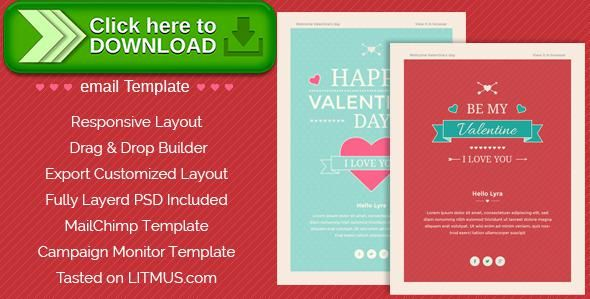 [ThemeForest]Free nulled download Happy Valentine wishes Email + ThemeBuilder Access from http://zippyfile.download/f.php?id=14611 Tags: clean, email template, friendship, happy valentine, Happy Valentine Day, love, personal, valentine, valentine e-newsletter, valentine email, valentine email template, valentine newsletter html, valentine wish
