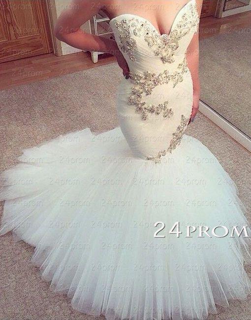 ❤❤❤❤Custom Made Sweetheart Mermaid Wedding Dresses – 24prom❤❤❤❤