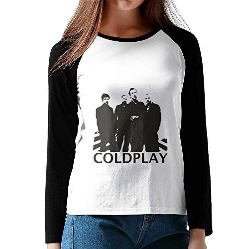 Coldplay Members Cool Band Logo Design Long Sleeve Baseball Graphic Graphic Shirt Women Girls Black ** You can get more details by clicking on the image. Note:It is Affiliate Link to Amazon.