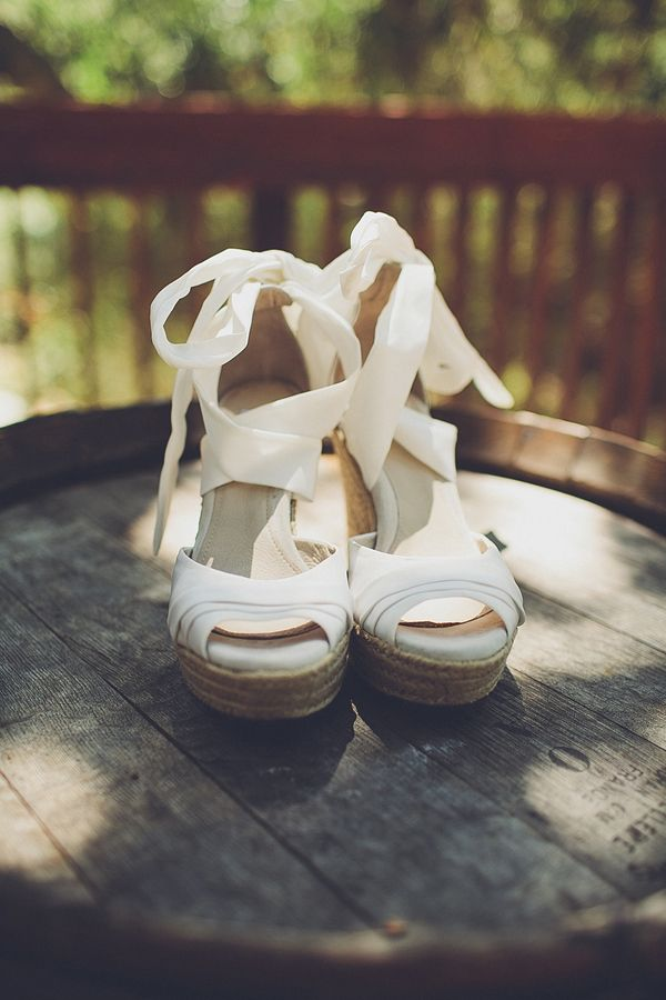 white wedge wedding shoes (don't know source though) http://www.weddingchicks.com/2013/09/24/natural-chic-wedding/