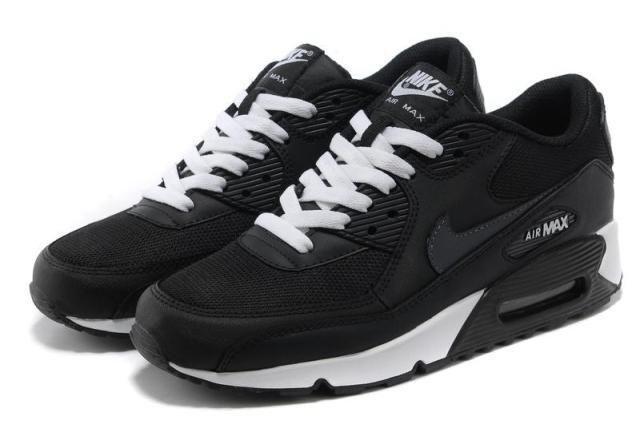 Cool Black Nike Air Max 90 Black White | Nike air max, Nike