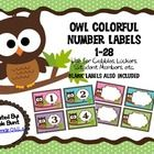 These owl themed labels can be used to number student cubbies, lockers, desks, etc. There are blank labels also included in this file.    These lab...