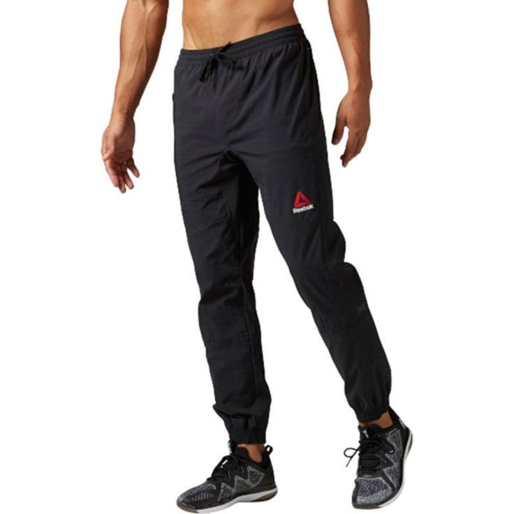 Reebok Men's Elite Woven Jogger Pants, Size: Medium, Black