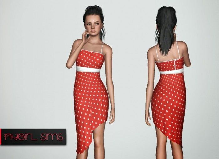 Sims 3 red dress nicole