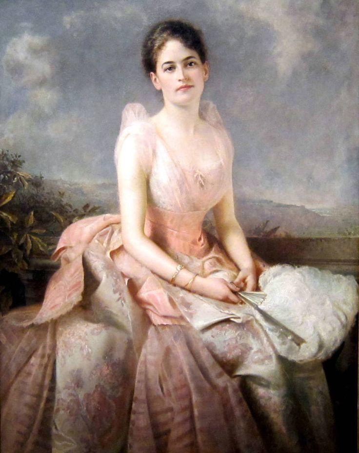 Juliette Gordon Low (founder of Girl Scouts) by Edward Hughes, 1887.  U.S., National Portrait Gallery