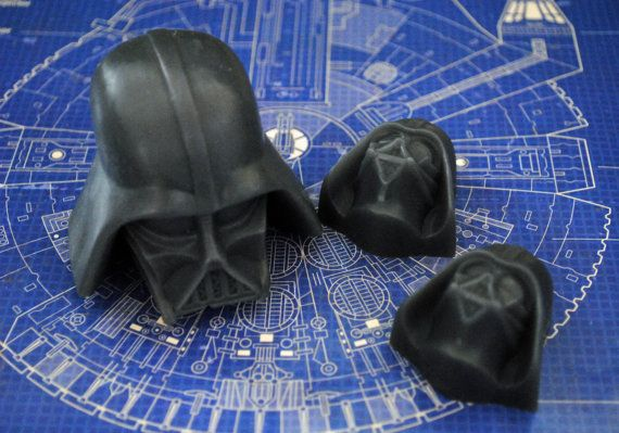 3 x Handmade Darth Vader Soaps  Star Wars Christmas by NerdySoap