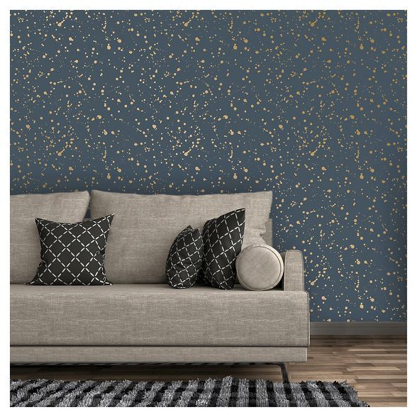 Celestial Peel Stick Wallpaper Navy Gold Opalhouse Peel And Stick Wallpaper Peel N Stick Wallpaper Flat Paint