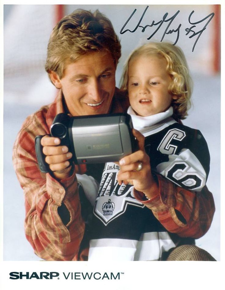 WAYNE GRETZKY with a Sharp ViewCam (back when my wife used to work at Sharp on these ad campaigns with him!)
