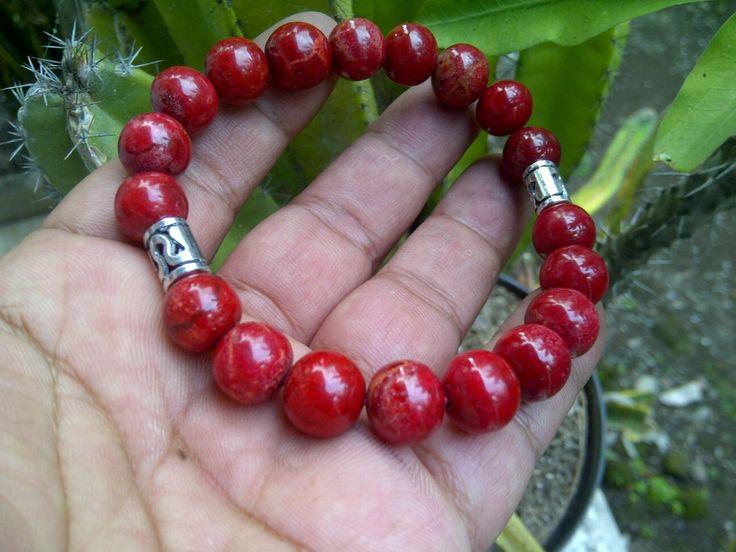 Gelang red coral kombinasi