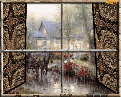 Дождь в картинках, фото и анимации - 3: Дождь за окном