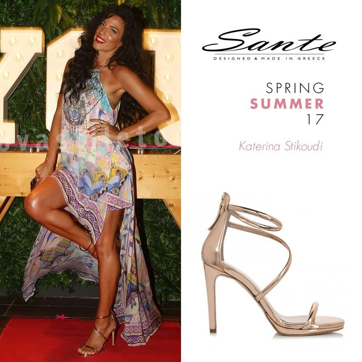 Katerina Stikoudi (@stikoudikaterin) in SANTE Sandals styling by Michael Tsoukas (@michael_tsoukas) #SanteSS17 #CelebritiesinSante  Available in stores & online (SKU-95791): www.santeshoes.com