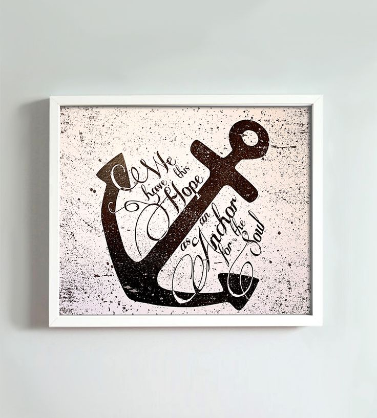 Anchor Art Print | This sweet and simple print says a lot. We have this hope as an anchor for the soul.