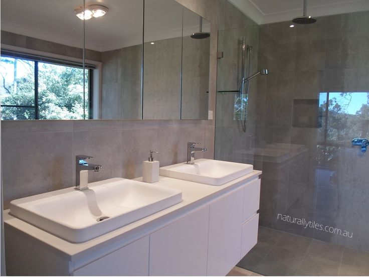 Meares home Kasso Gianni vanity with shaving cabinet, designed & supplied by naturallytiles.com.au