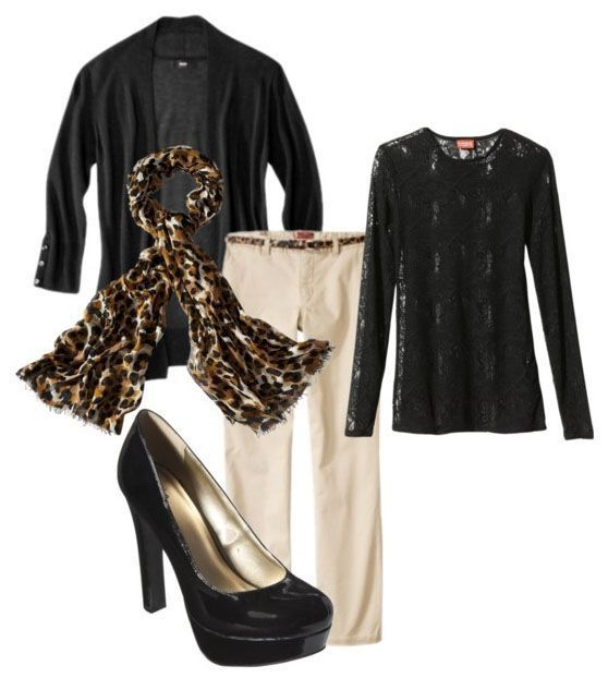 Inspiration look Day to night : Target #Fashion inspiration: pair comfortable pants with power shoes bold print