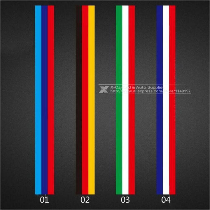 500*15 см Автомобилей Стайлинг Украшения Наклейки Кузова Авто Мотоцикл Водонепроницаемый Наклейки ИЗ ПВХ Чехлы Для VW BMW 3 цвета Линии