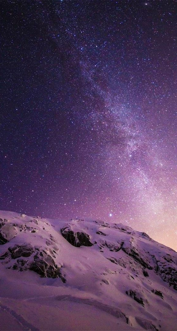 Iphone X Stars And Snow Wallpaper Space Iphone Wallpaper