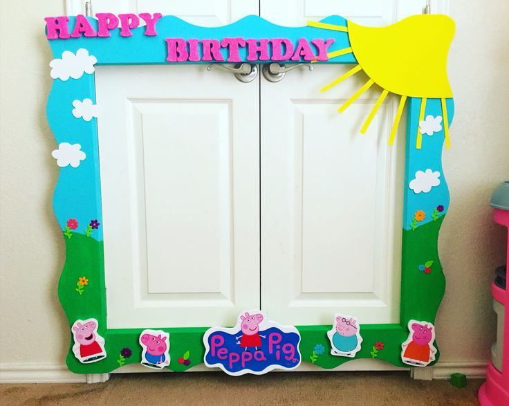 8 best Peppa pig images on Pinterest   Birthday party ideas, Frame ...