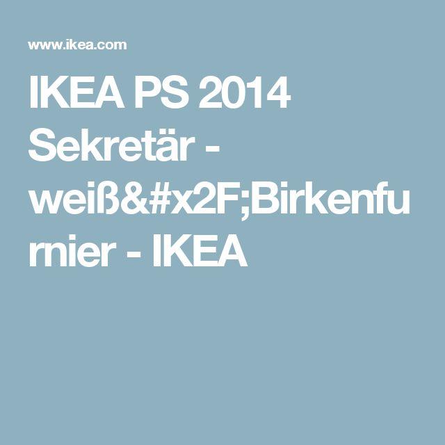 IKEA PS 2014 Sekretär - weiß/Birkenfurnier - IKEA