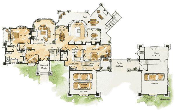 Plan 11590KN: Full Tilt Luxury Mountain Home Plan | Houses | House Plans, Mountain  House Plans, Home.