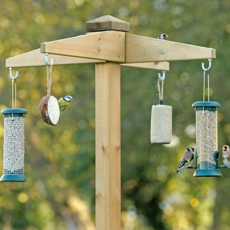 25 best ideas about bird feeder stands on pinterest for How to make a wooden bird feeder