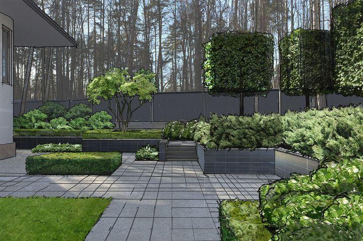 Многоуровневый сад в Жуковке - ARCADIA GARDEN Landscape ... on Arcadia Backyard Designs id=87124