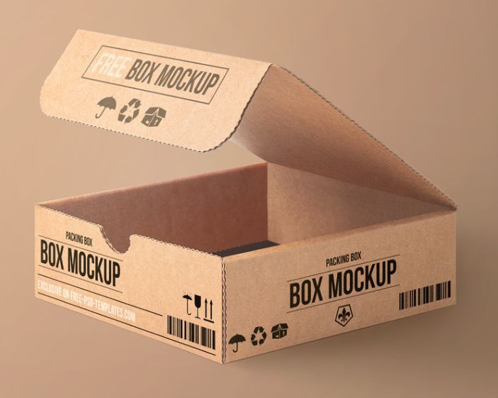 Carton Packaging PSD Mockup For Free
