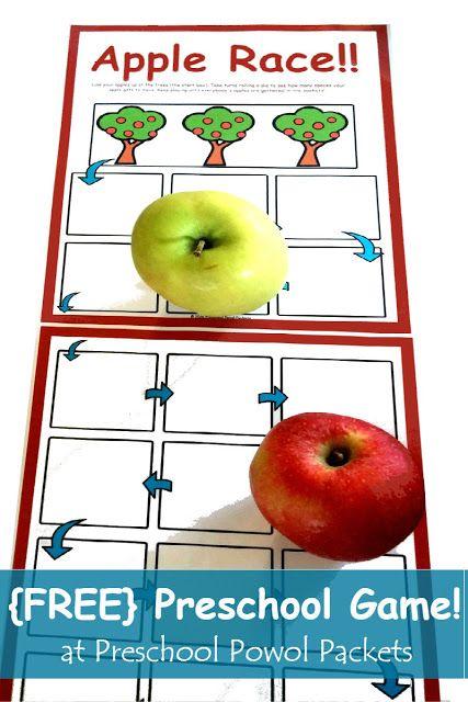 {FREE} Apple Race Preschool Game | Preschool Powol Packets