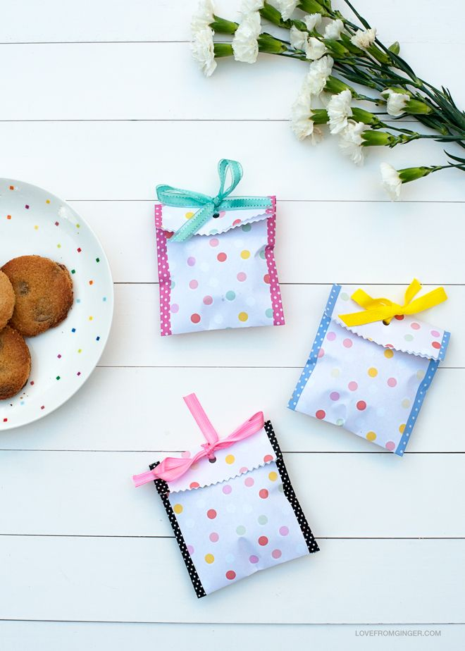 Freebie Cookie Bag Download + DIY   Love From Ginger