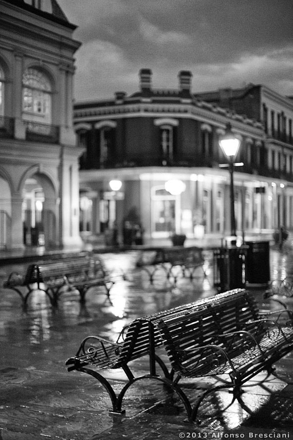 Black and white pictures of the New Orleans French Quarter | Pompo Bresciani Photography