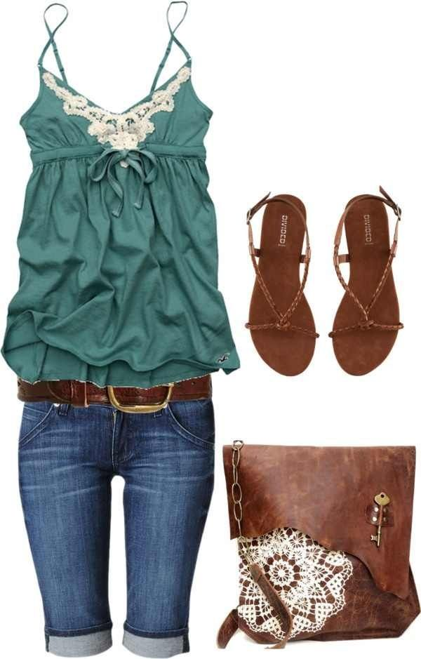 Love this, the green top is so cute