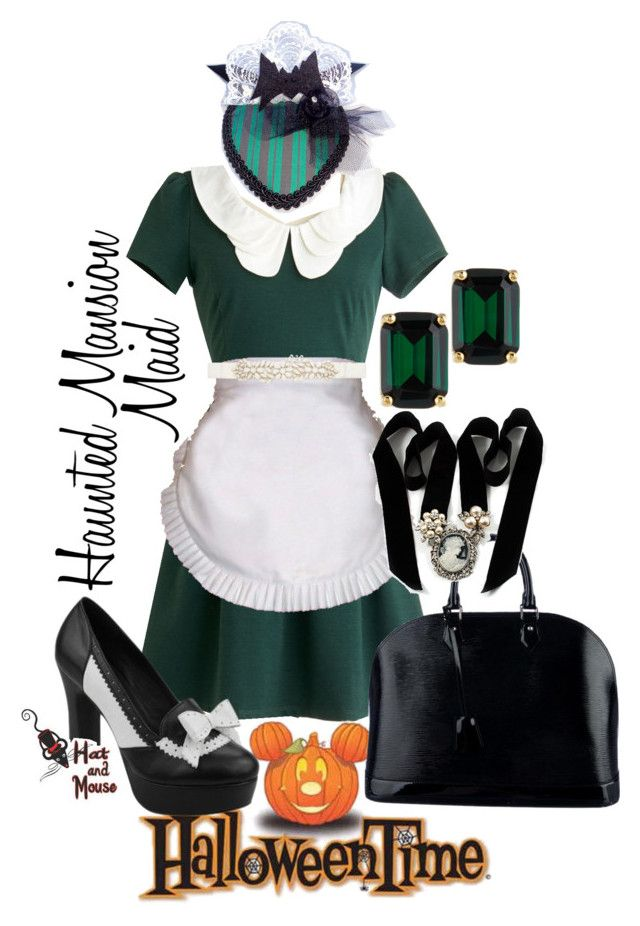Halloween Time Haunted Mansion Maid by hatandmouse on Polyvore featuring ELSE, Louis Vuitton, Avalaya, Kate Spade, Forever New and T.U.K.