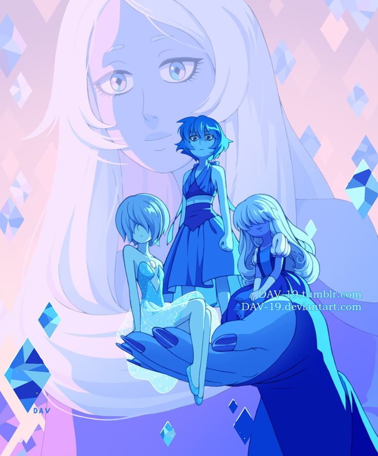 steven universe | Diamante Azul, Zafiro, Lápiz Lazuli y Perla