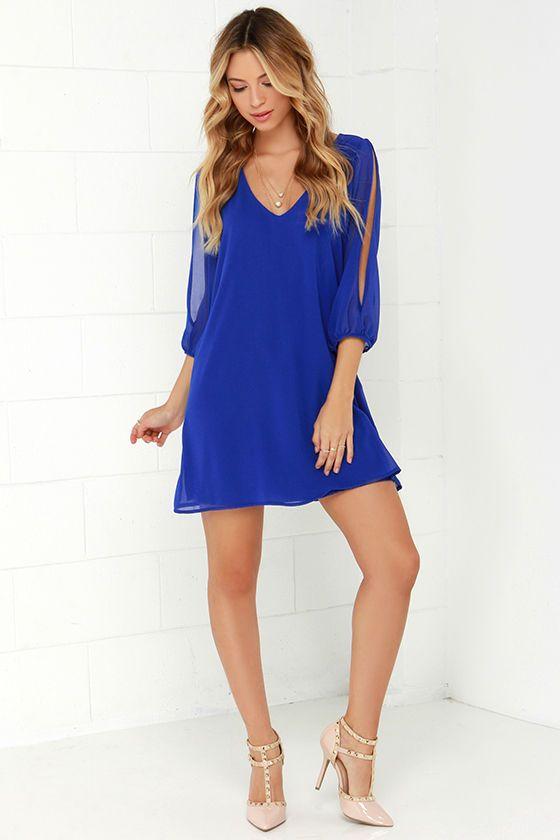 17 best ideas about Blue Long Sleeve Dress on Pinterest | Long ...