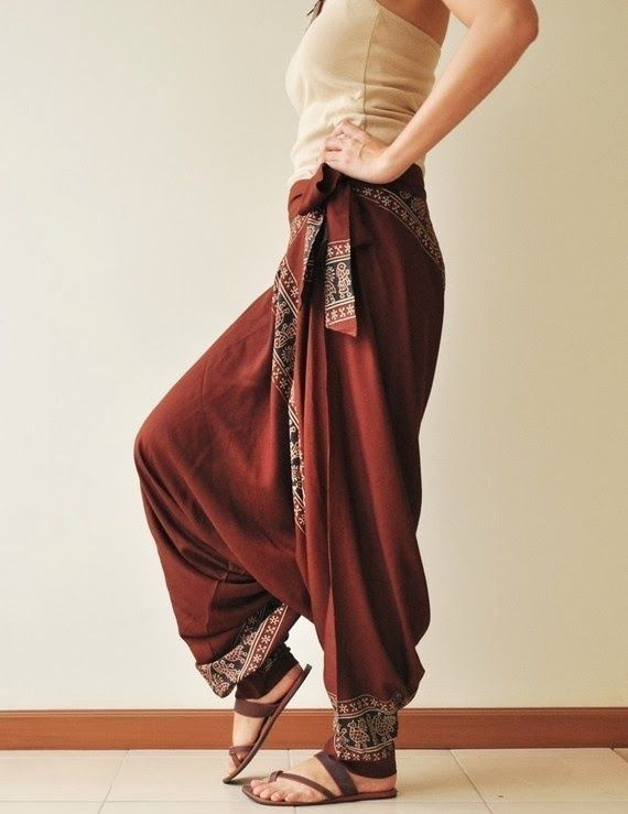 All Around The WorldBrown Printed Rayon Harem by aftershowershop, $31.50