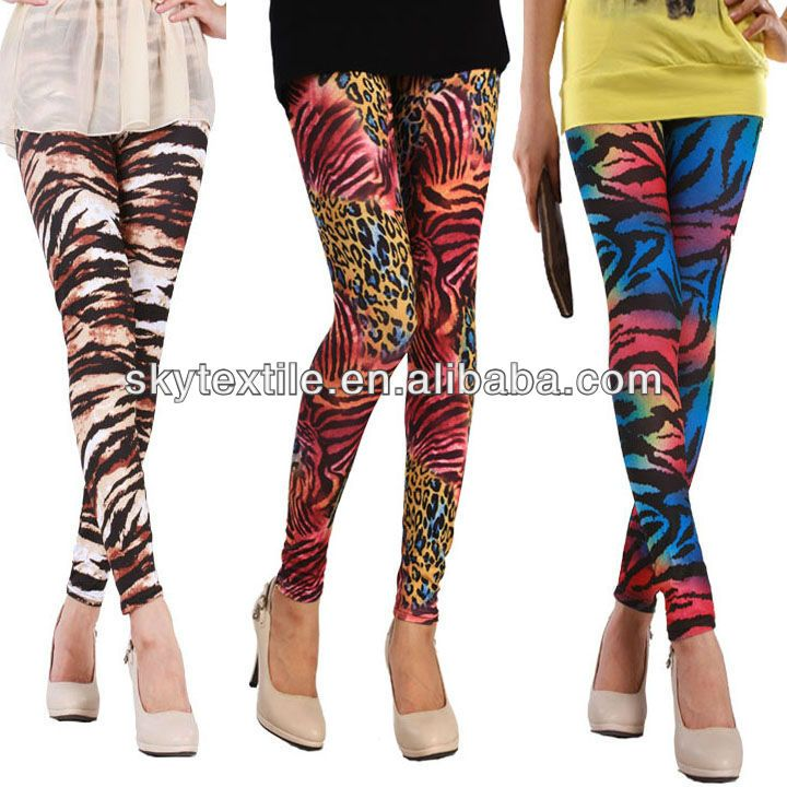 High Quality Colored Leopard Print Pants Ladies Stockings Leggings Support Custom Polyester Tights $2.28~$5.56