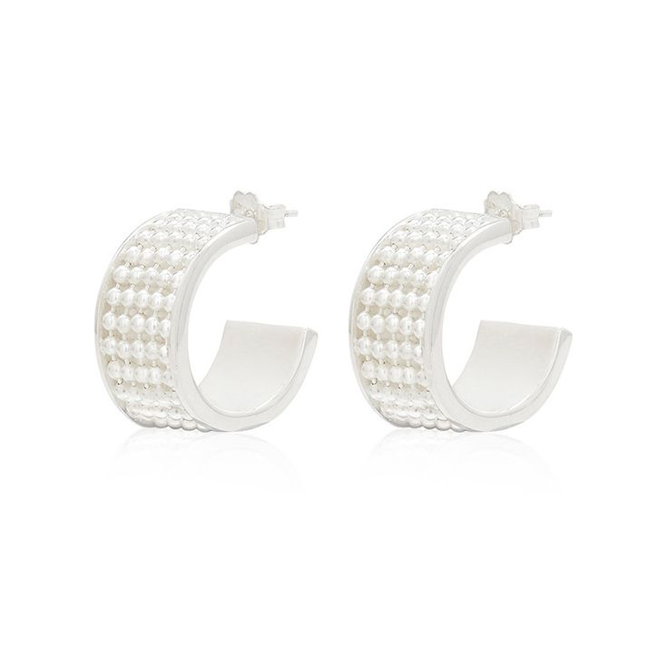 Signature Silver Earring (wide) - Kate McCoy