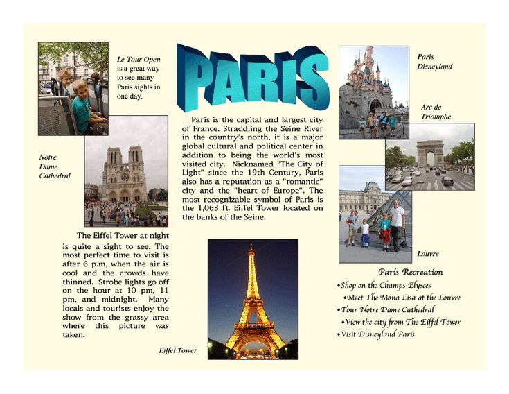 15 best images about france project on pinterest for Travel guide brochure template