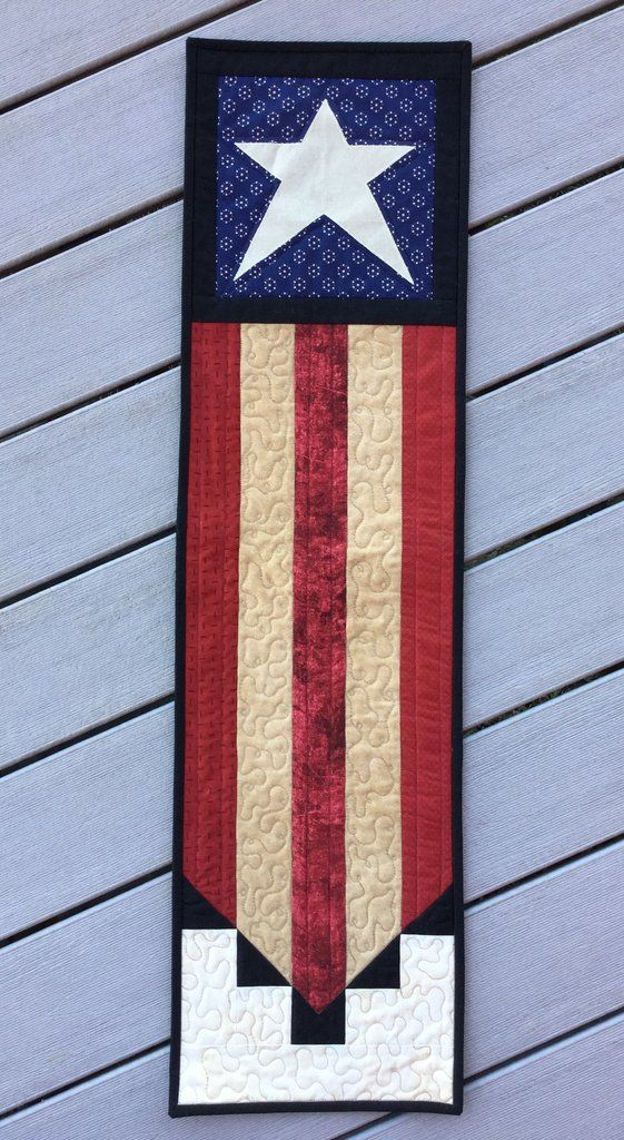 Liberty Patriotic Flag Quilted Wall Hanging Banner, 4th Of July Quilt, Independence Day