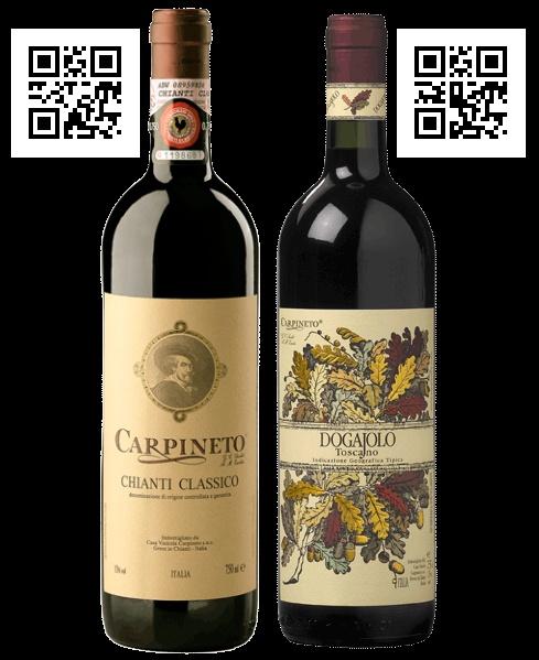 Carpineto è la prima azienda vinicola del territorio del Chianti che ha scelto il Qr Code già quando ancora in italia non era conosciuto come oggi. I primi vini sui quali gli appassionati hanno potuto trovare il Qr Code da poter fotografare sono stati il Chianti Classico – D.O.C.G. e il  Dogajolo Toscano Rosso I.G.T. Ad oggi Carpineto adotta i QrCode forniti dalla Web System s.a.s. su tutta la produzione aziendale che conta più di trenta tipologie di vini e oli.